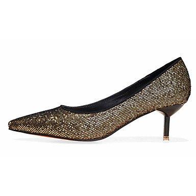 Moda Donna Sandali Sexy donna tacchi Comfort caduta in raso elasticizzato Casual Stiletto Heel altri nero / argento / Oro Altri Black
