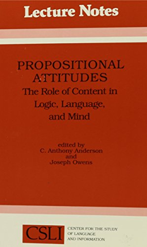 Propositional Attitudes: The Role of Content in Logic, Language and Mind (Center for the Study of Language and Information Publication Lecture Notes)