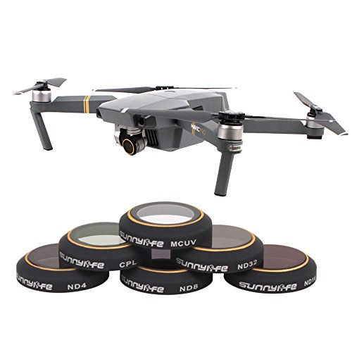 Kamera Filter Linse Set Objektiv Filter für DJI Mavic Pro Drone von TIME4DEALS (6 Kits: ND4 + ND8 + ND16 + ND32 + CPL + MCUV)