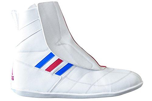 Adidas–Schuhe für Savate-Boxe français, von Adidas–ADISFB03 Weiß / Blau / Rot