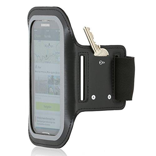 Wicked Chili Sport Armband EasyAction Dual für Samsung Galaxy S5 Neo / S5 / S4 / S4 Active / S3 Neo / S3 (Armumfang: 25-40 cm, mit Schlüsselfach und Kopfhöreranschluss) (Kopfhöreranschluss Galaxy S3)