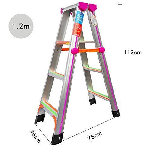 Aluminium-legierung Leiter,folding Leiter mehr stabilität Treppenleiter Anti-rutsch 4 Schritt Leiter Fischgrät Leiter Für Zuhause Küche Warehouse-a 1.2m