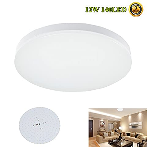 Smart and Green LED Lighting Fixture, Flush Mount Ceiling Lights, 100W Incandescent Bulbs Equivalent 950-1100lm for Dining Room Kitchen and Bedroom 12W 5000K(Cold White)