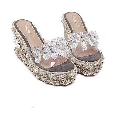 zhENfu donna mocassini & amp; Slip-Ons sandali suole di luce PU Inverno Primavera oro Casual 3A-3 3/4in Gold