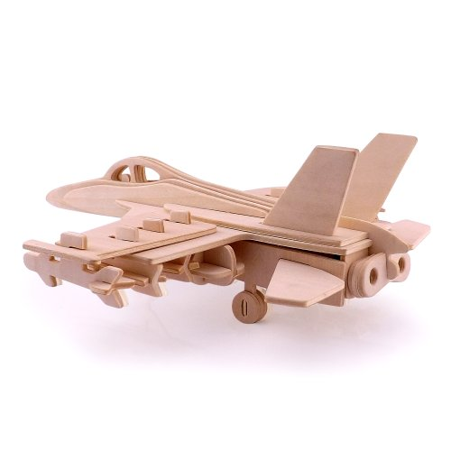Kinder DIY Holz Hornet Bomber Modell Holzhandwerk Bausatz Puzzle Spielzeug