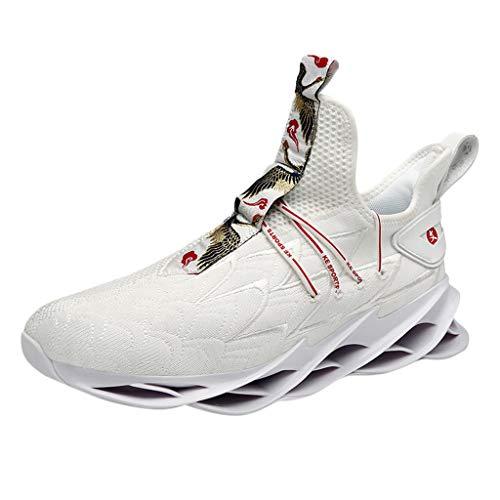 SSUPLYMY Herren Laufschuhe Fitness straßenlaufschuhe Sneaker Sportschuhe atmungsaktiv rutschfeste Freizeitschuhe Turnschuhe Outdoor Leichtgewichts Freizeit Atmungsaktive Schuhe -