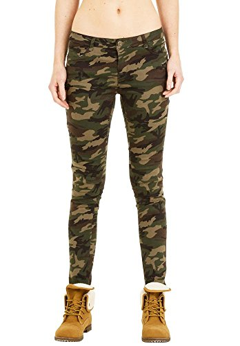 Low-Rise Slim Stretch Tarn-Hose - Dunkel- Grün 38 (Camo Carters)