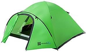 SKANDIKA Larvik Tente de Camping Dôme pour 3 Personnes Mixte Adulte, Vert