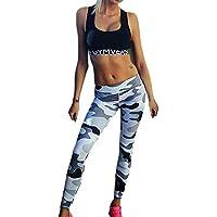 Pantalones Leggings Vestir Deportivos Yoga para Mujer Otoño Invierno 2018 PAOLIAN Pantalones Running Fitness Moda Cintura Alta Jogger de Chandal Pantalones Estampado Camuflaje Elástica Señora