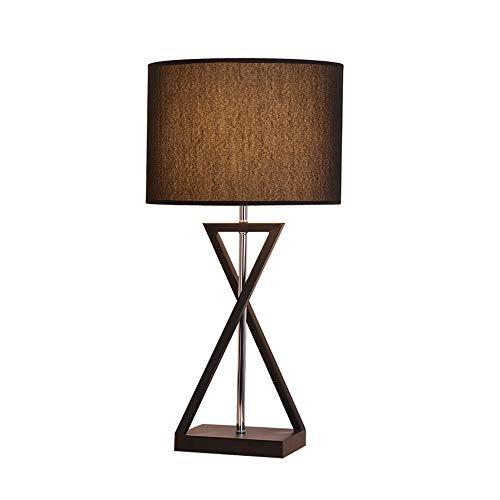 Skingk Einfache Moderne LED Schlafzimmer Nachttischlampe Kreative Nordic Persönlichkeit Arbeitszimmer Dekoration Kreative Stoff Schreibtischlampe E27 Knopfschalter Tischlampe Schlafzimmer Dekoriert Ti