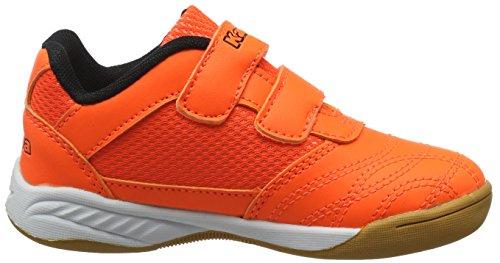 Black 4411 Kids Kappa Orange Orange Hallenschuhe Kinder Kickoff Unisex x8wUqtYU6
