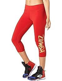 Zumba Brilla Largo Leggings de la Mujer, Mujer, Shine, Well Red, 2
