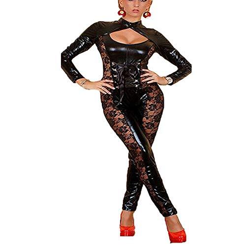 Heißen Kostüm Weiblichen - AWSAYS 2019 Frau Siamesisch Leder KostüM Sexy Anzug des HeißEn Tanzes Der Weiblichen Stangentanz