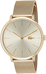 Lacoste Women's Gold Dial Stainless Steel Band Watch - 200