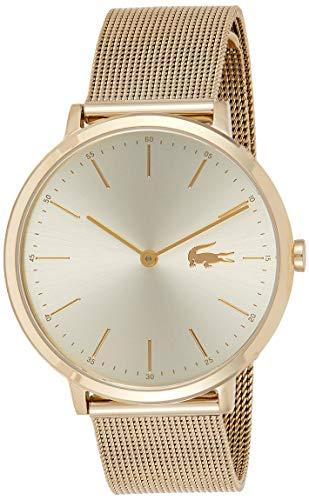 Lacoste Damen Datum klassisch Quarz Uhr mit Edelstahl Armband 2001000