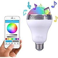 Bombilla de luz LED,lámpara de bombillas de luz LED inteligente E27 inalámbrica Iluminación con