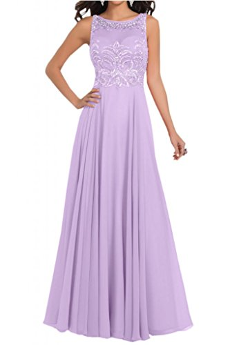Toscana sposa incantevole lungo abiti da sera in Chiffon due-Traeger prom dress damigella d'onore del partito Lila