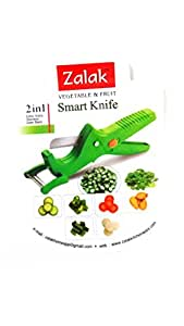 Zalak Vegetable and Fruit Smart knife with Peeler and lock system (Color may Vary)