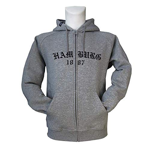 1887  Streetwear Kapuzenjacke Zipper Zip Hoodie O HH, grau
