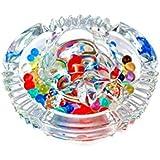 Bellveen Glass Crystal Tortoise In 5X5 Inch Plate Fang Shui Vastu Set Kachua The Best Showpiece For Gift Vastu, Pooja, Carrier & Home Interior Décor PE10 (1-Jelly Ball Packet Free)