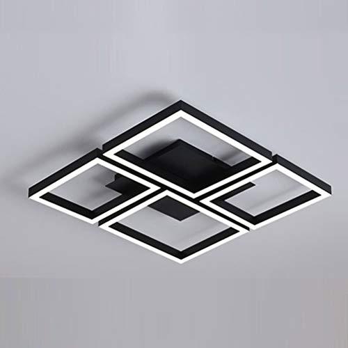 Bin Bin Decken Kronleuchter Neuheit Flush Mount Ambient Light Lackiert Oberflächen Metall Multi-Schatten, Augenschutz, Verstellbar 220-240V Zwei-Farben-Licht,Black,60 * 60 -