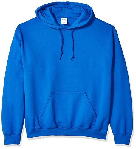 Gildan Herren Heavy Blend Fleece Hooded Sweatshirt Kapuzenpulli, königsblau, Mittel Kind Hooded Fleece-sweatshirt