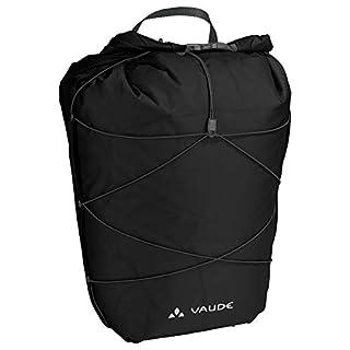 Vaude Aqua Back Light, Ultraleichte Hinterradtasche zum Radfahren, Black, one Size