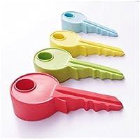 ewfsef Creative calidad duro Durable de goma tope para puerta en forma de clave