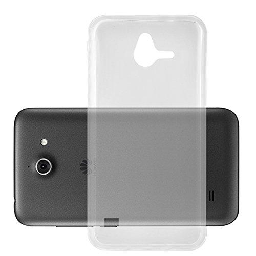 Preisvergleich Produktbild Cadorabo DE-104184 Huawei Ascend Y550 Handyhülle aus TPU Silikon im Ultra Slim 'AIR' Design Soft Back Cover Case Bumper Voll-Transparent