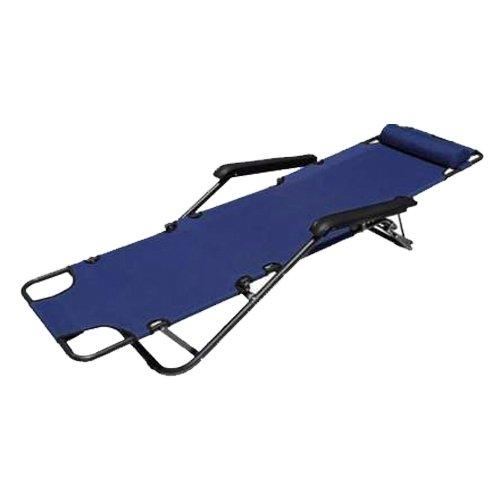 TOOGOO (R)Chaises Siege de salon inclinable Chaises de patio Cour en plein air Plage et lolol: Bleu marine Tailles: 60 pouces