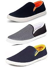Chevit Men's Multi-Coloured Canvas Casual Shoes