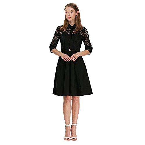 charmma-womens-vintage-bridesmaid-lace-contrast-straight-skirt-a-line-dressblack-2-xl