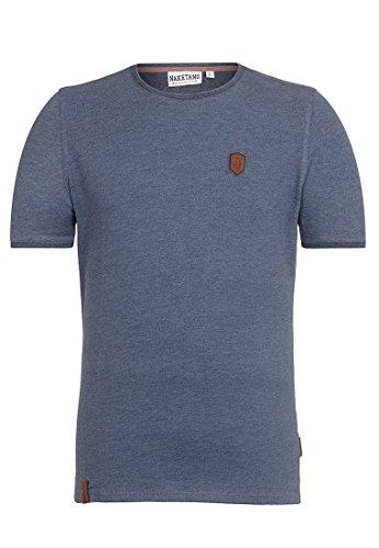 Naketano Male T-Shirt Bumsebumse Shirt Indigo Blue Melange, L