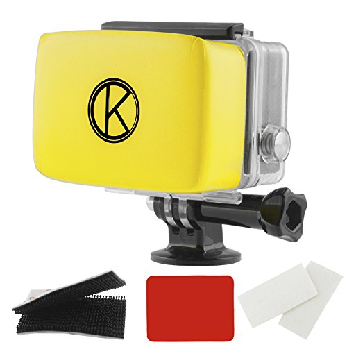 CamKix Floater kompatibel mit GoPro Hero 4, 3 + 3, 2, 1 - Abnehmbare Schwimmer für Backdoor - Wasserdichten Kleber und Klettverschluss - 1 Paar Anti-Fog Inserts
