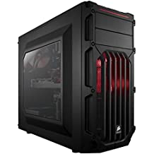 Corsair CC-9011052-WW Case Essential Gaming, Mid Tower Atx Carbide Spec-03, con Finestra e Ventola Frontale a LED, Rosso/Nero