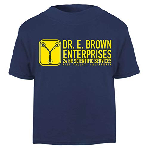 Dr E Brown Enterprises Back to The Future Baby and Toddler Short Sleeve T-Shirt