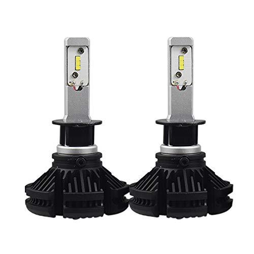 2 Stück Headlight Scheinwerfer, Nebel Driving Glühlampe,Alle Modelle H1, H3, H4, H7, H11, H13, 9004, 9005, 9006, 9007, 9012,90W 12000LM 50000 Stunden Lebensdauer (H1)