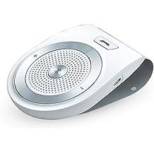 AGPTek T821 Altavoz Bluetooth 4.1 para coche con manos libres de Micrófono incorporado para todo el teléfono móvil con Bluetooth , Blanco