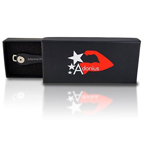 Adonius Z1 Key Organizer Schlüsselorganizer bis zu 10 Schlüssel (schwarz) schwarz