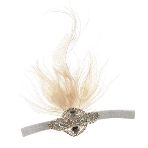 rnband Haarreif Haarband Kopfschmuck mit Blumenapplikation Design, Gatsby Stil - 6 ()