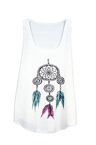 Camiseta SIN Mangas para Mujer - atrapasueños - Estilo Etnico - Dreamcatcher Woman Tank-Top