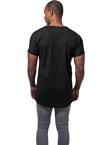 Urban Classics Herren T-Shirt Long Shaped Turnup Tee Schwarz (Black 7)
