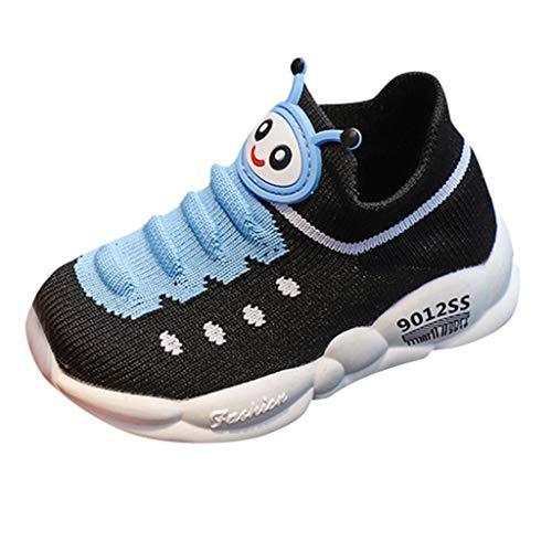 hen Jungen Gestrickt Schuhe Atmungsaktiv Socken Schuhe Kleinkind Kinder Turnschuhe Laufen Sport Stiefel Schuhe Cartoon Bequem Kinderschuhe rutschfest Sneaker ()