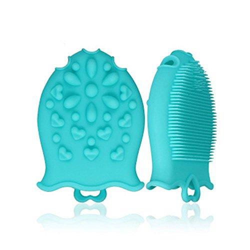 Baby Bath Brush, DS-Mart Cepillo de masaje infantil de silicona suave Ba?o de ducha de uso m¨²ltiple Cepillo de masaje de cuero cabelludo de limpieza