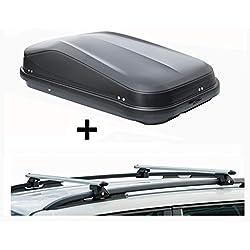 VDP JUEASY320 Coffre de Toit verrouillable avec Barres de Toit CRV120 Compatible avec Kia Cee'd SW (5 Portes) 2007-2012