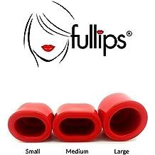 FULLIPS Aumentador De Labios Bomba up tus labios Ciruela Pout Succión Aparato Set Regalo - Rojo, Grande