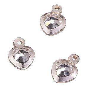Knorr Prandell Gütermann 2365718 - Colgantes en Forma de corazón (Plata de Ley 925, 3 Unidades), Transparente