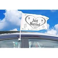 Folat 10782 - 2 Pz. Bandierina Just Married Auto Sposi