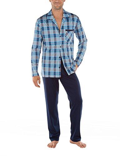 Calida Herren Zweiteiliger Schlafanzug St.Barth Pyjama Blau (heaven Blue 434)