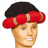 NET TOYS Turban für Erwachsene in SAMT-Optik | Rot in KW 60 | Schönes Unisex-Kostüm-Zubehör 1001 Nacht | Wie geschaffen für Fasching & Mottoparty